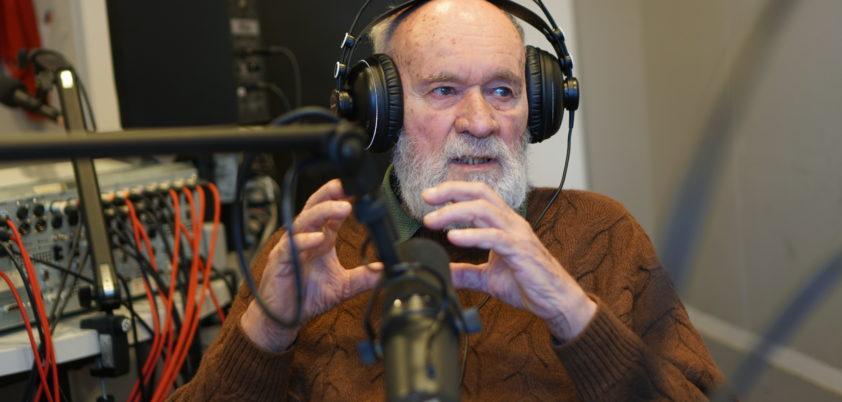 Janusz Żelaziński w studiu Radia WNET