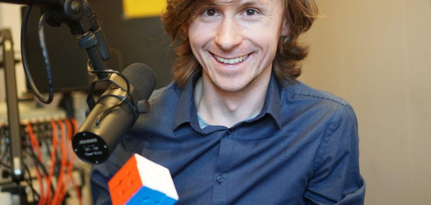 Grzegorz Łuczyna w studiu Radia Wnet fot. Janusz Mirowski
